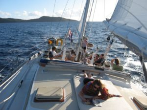 Guadeloupe and Dominica Shaitan of Tortola sailing