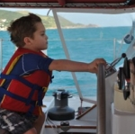 Akka Luxury Charter Sailing Catamaran Helm Guest