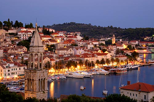 Hvar, Croatia, Adriatic Sea, known for nightlife