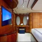 Luxury Charter Yacht Just Enough Master Desk