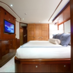 Luxury Charter Yacht Just Enough King Guest Stateroom