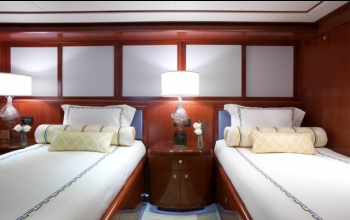 Luxury Charter Yacht Just Enough Twin Guest Stateroom