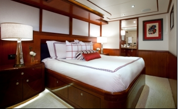 Luxury Superyacht Just Enough Queen Guest Stateroom