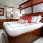 Luxury Charter Yacht Just Enough Queen Guest Stateroom