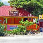St. Martin Family Yacht Charter Vacation, Grand Case, Calmos Cafe