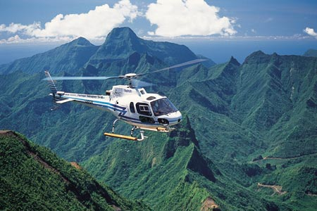 The South Pacific Helicopter Over Tahiti