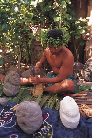 The South Pacific Marquesan Artisan Carving Stone