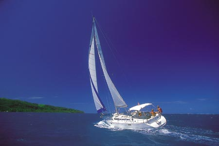 The South Pacific Crewed Charter Yacht Sailing in Raiatea