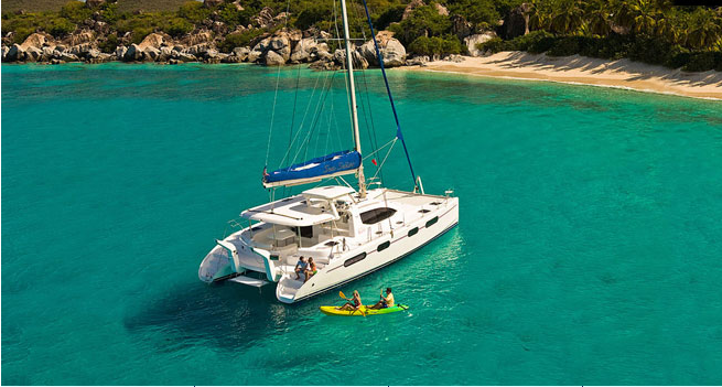 Sea Señor luxury charter catamaran aerial