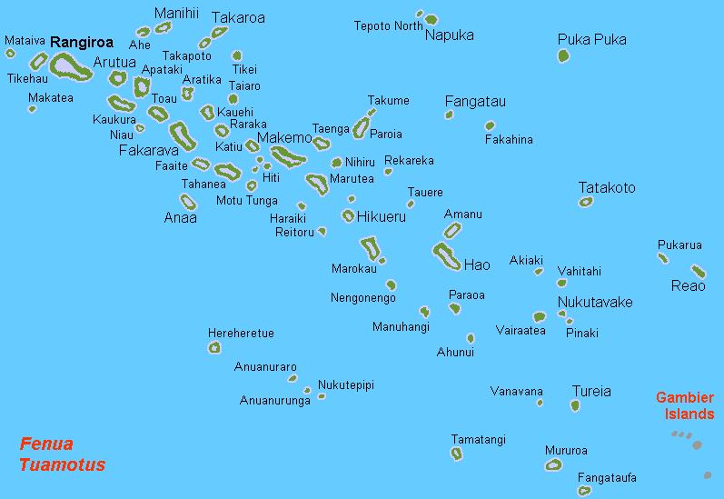 The South Pacific yacht Charter Destination Tuamotus Islands