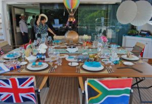 Charter Yacht Show, Table Setting Competition, Charter Superyacht