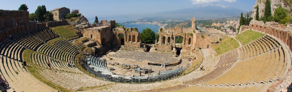 Sicily, Taormina, Ancient Greek Theater