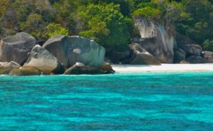 Thailand, similan islands, secluded beach