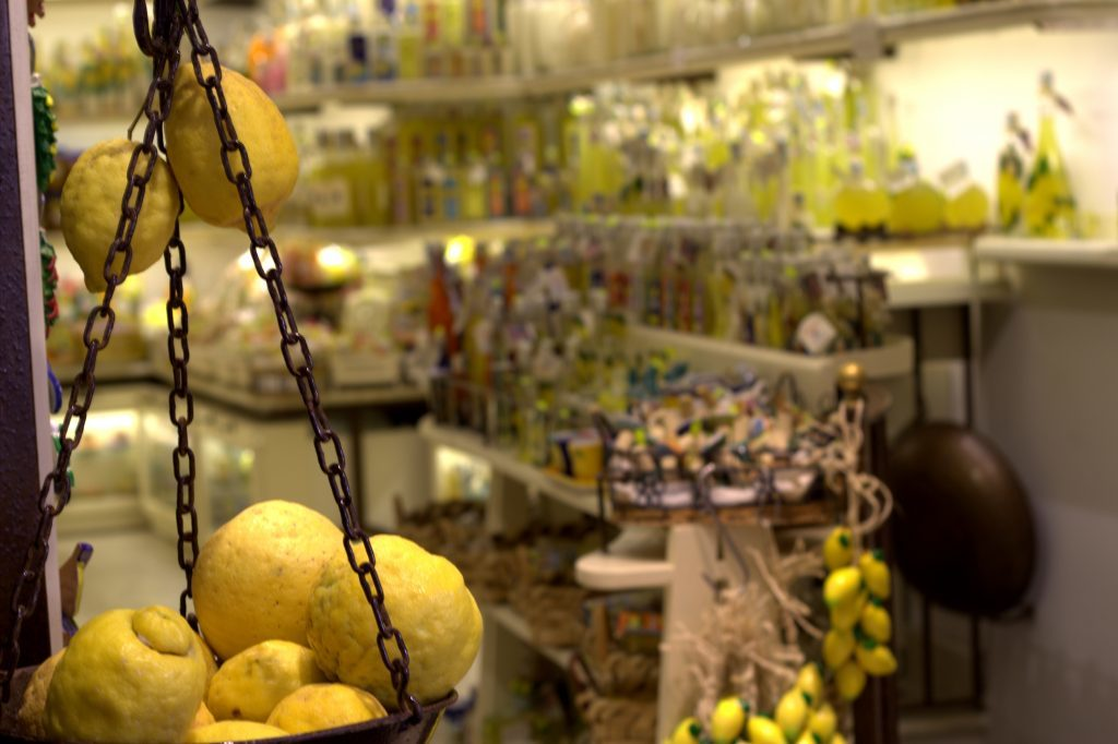 Italy's Amalfi Coast, lemon shop
