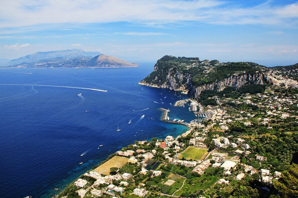 Italy's Amalfi coast, private, crewed yacht charter, Capris