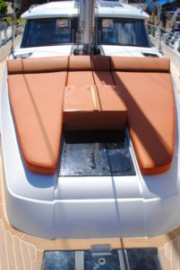 Buying a yacht, sailing yacht bow cushions, sunpads